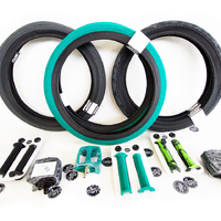 Colony Tyre, Grip & Pedal Combo / Emerald Tyres + Emerald Grips + Emerald Pedals